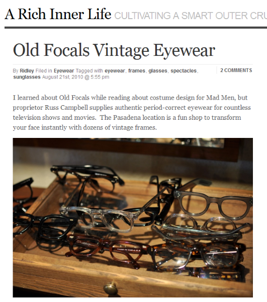 In The News Old Focals