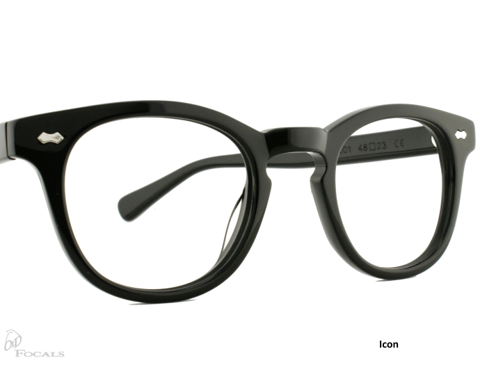 Icon |Black| Old Focals |Design by Russ Campbell (1)