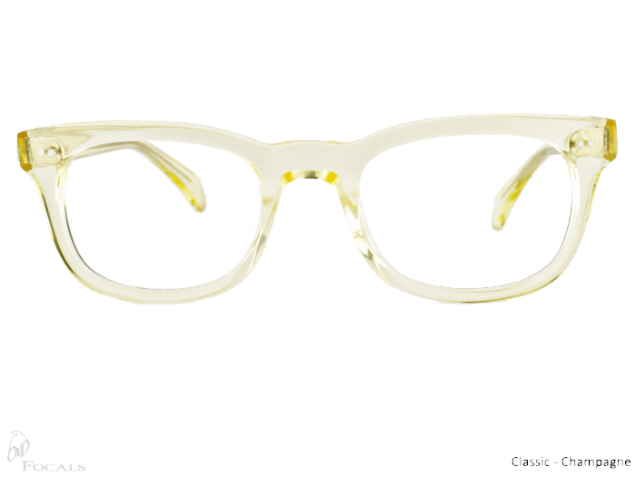 Classic Old Focals Eyewear Champagne